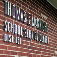 School Service Center sign