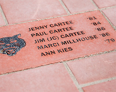 Commemorative brick pavers available
